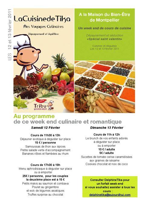 week end cours de cuisine week end de cours de cuisine spécial st valentin forum