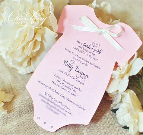 Baby Shower Invite Ideas - oh baby olive berry paper llc