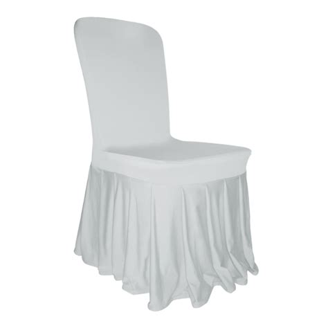 housse de chaise lycra pleated skirt chair cover lycra spandex wedding