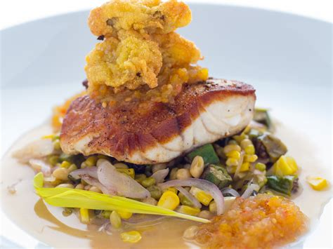 grouper succotash oysters chowchow fried vegetable tennessee local summer