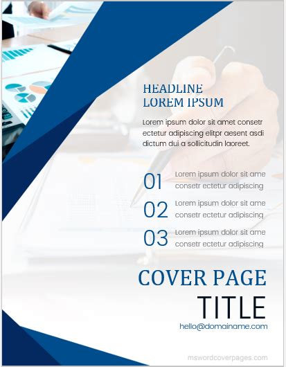 printable cover page templates  ms word ms