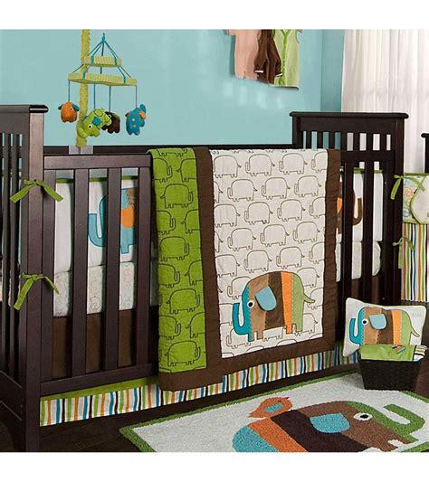 Kidsline Crib Bedding by Kidsline Zutano Elephants 4 Crib Bedding Set