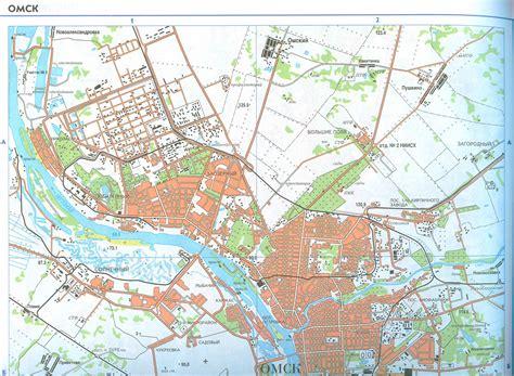 Карта Омска. Подробная карта города Омск и окрестностей   Raster Maps   Карты всего мира в одном ...