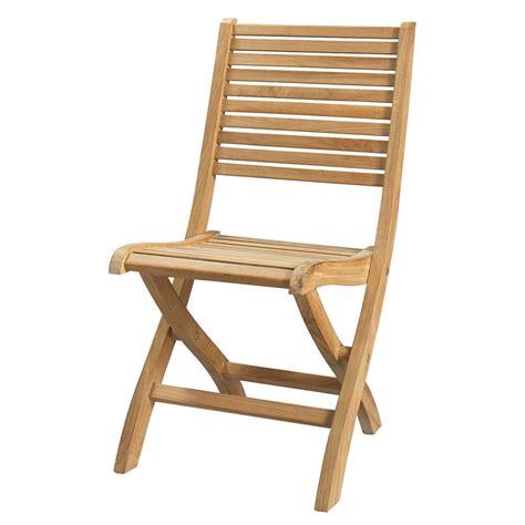 chaise en teck chaise pliante de jardin en teck massif olé maisons