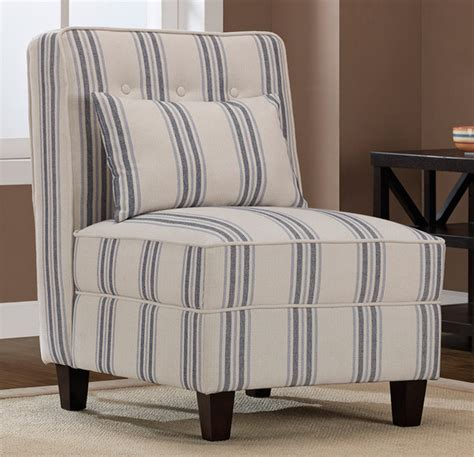mattie tufted slipper blue stripe chair