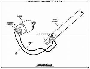 Homelite Ry40050 Pole Saw Attachment Parts Diagram For