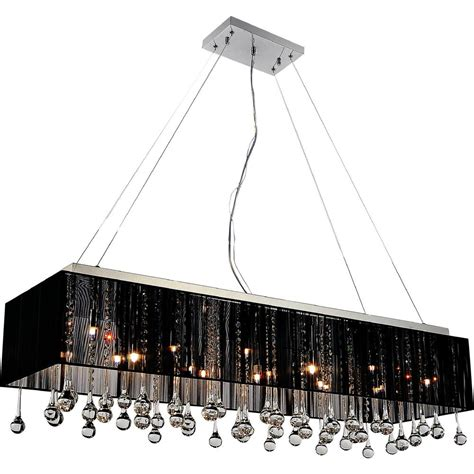 Chandelier With Black Shade And Drops by Safavieh Abbeville 3 Light Chrome Chandelier With Black
