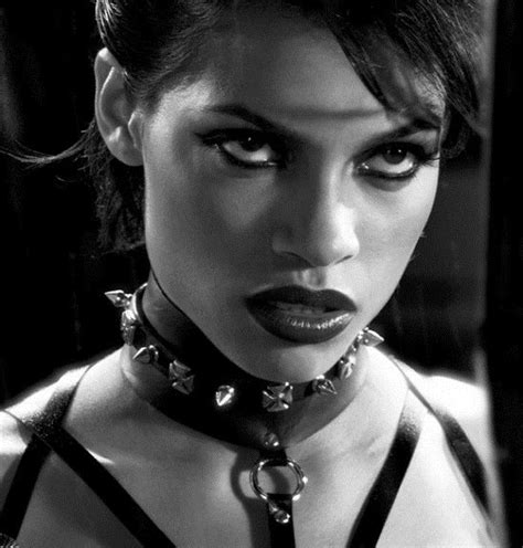 rosario dawson black and white rosario dawson s petite arched brow notice how there is