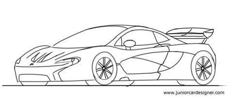 mclaren p1 drawing easy draw a mclaren p1 junior car designer