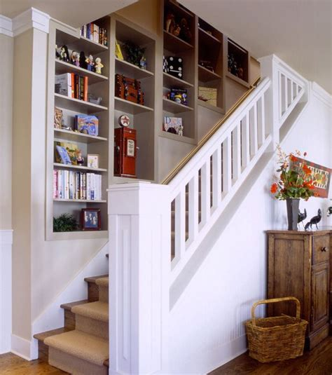Stairs Shelf Ideas For Book Storage by Shelf Unit Built In Wall Staircase Interior One Day In