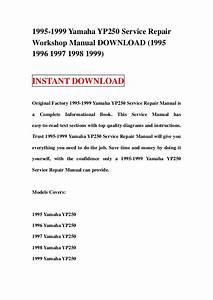 1995 1999 Yamaha Yp250 Service Repair Workshop Manual