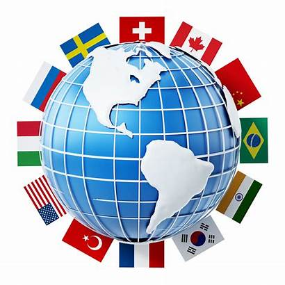 International Globe Flags Country Background Conference Speakers