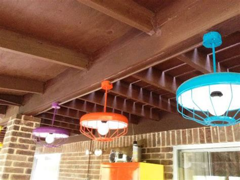 make light fixtures from chicken feeders diy