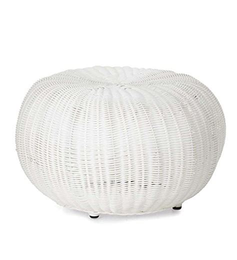 small ottomans and poufs small outdoor wicker ottoman pouf 19 quot dia x 12 quot h in