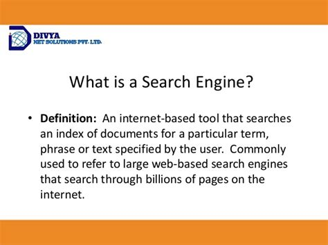 Define Search Engine Optimisation - seo services search engine optimization divyanet