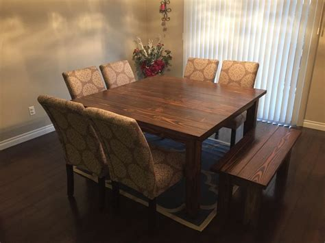 square farmhouse table    home projects