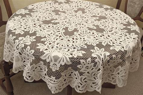 tischdecke 160 rund tischdecken tischl 228 ufer rund oval baumwolle aus gestickter