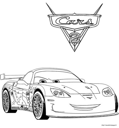 disegni da colorare per bambini cars cars 2 disegno da colorare n 1