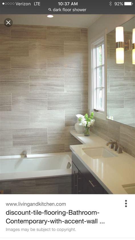 horizontal  tile  staggered  bath