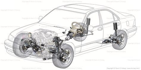 car suspension system generic car cutaway sedan