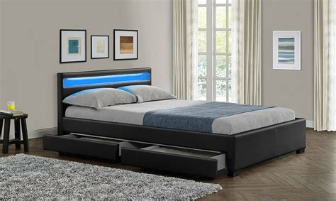 King Size Bed Frame And Headboard by King Size Bed Frame With 4 Drawers Storage Led