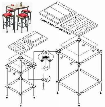 Construction Furniture Scaffolding Drawings Homemade Pvc Bar