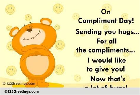 hugs compliment day ecards greeting cards