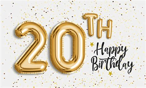happy  birthday gold foil balloon greeting background