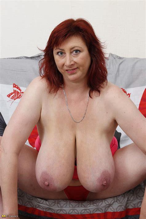 Redhead Milf Jana P Showcase Her Big Twins Milf Fox