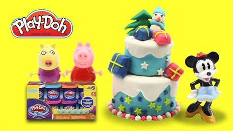 peppa pig christmas tree decoration game playdoh play