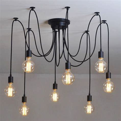 industrial chandelier ceiling light fixture l light pendant lighting vintage ebay