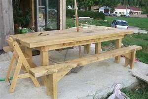 Table Jardin En Bois : table de jardin design en bois ~ Teatrodelosmanantiales.com Idées de Décoration