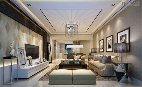 Contemporary Ceiling Fan, High Ceiling Modern Living Rooms