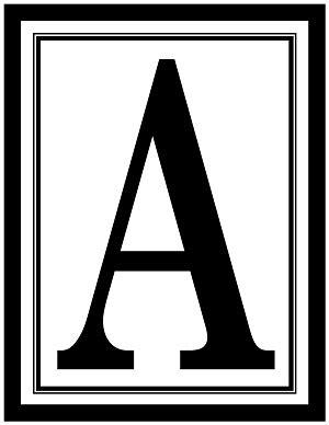 large rectangle printable alphabet letters