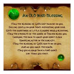 an old irish blessing parchment for luck square poster zazzle