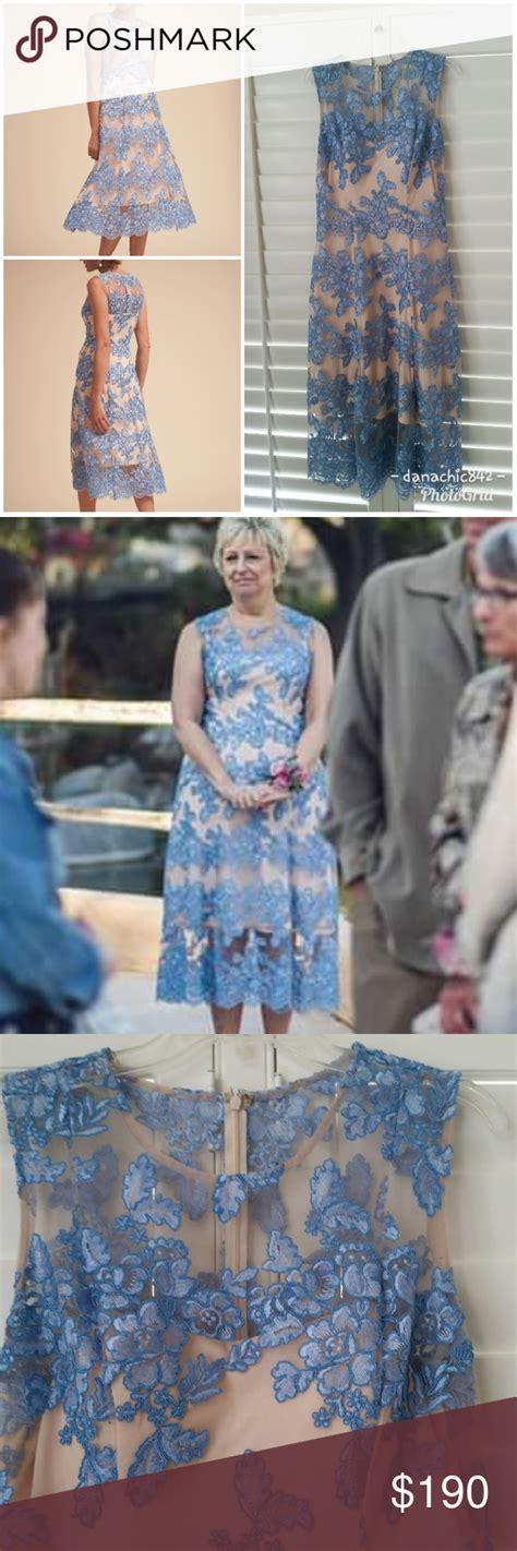 BHLDN Tonya Dress Blue Lace Tea Length Super Brand New