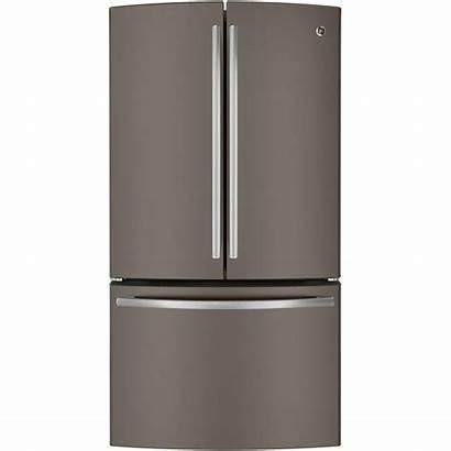 Refrigerator Ge Depth Door Counter French Slate