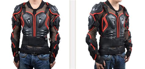 New Motorcycle Jacket Body Armor Red Motorcycle Armor