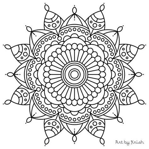 printable intricate mandala coloring pages