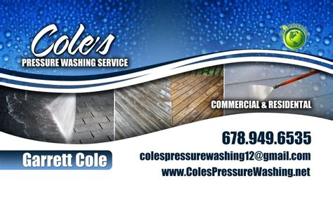 pressure washing business card templates pressure washing business pressure washing business