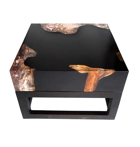 Cracked Resin Coffee Table With Base Cr010 Andrianna