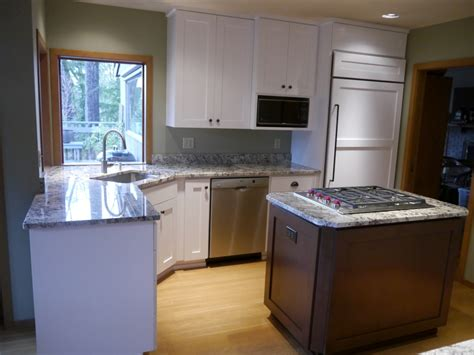 kitchen cabinet refacing island mercer island traditional kitchen reface 7926