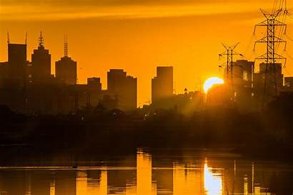Melbourne Wallpapers Australia Sun Glow Background Sunset