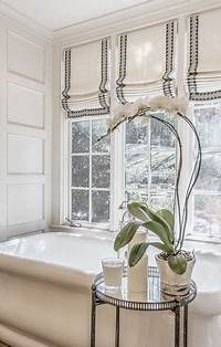 window treatments for bathrooms 23 Bathrooms with Roman Shades - MessageNote