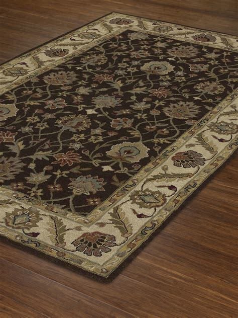 8 x 10 area rugs dalyn jw33 chocolate ivory rug