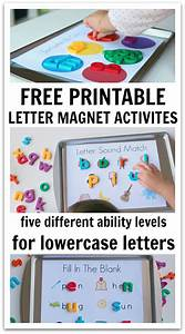 5 ways to use magnetic letters free printables no time for Magnetic letter printables