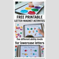 5 Ways To Use Magnetic Letters & Free Printables  No Time