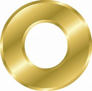 clipart effect letters alphabet gold With gold letter o