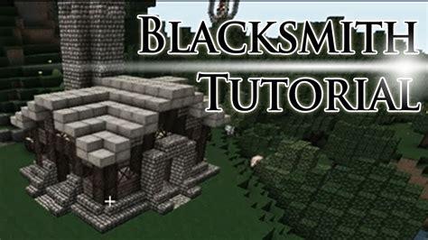 minecraft blacksmith tutorial youtube
