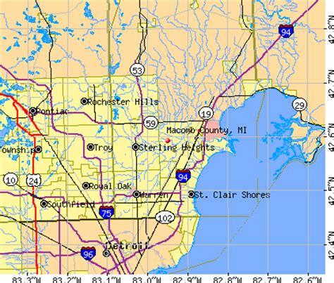 macomb county michigan map michigan map